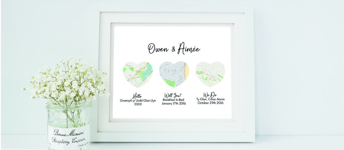 Personalised Map Wedding Gift World Maps Available Hanging