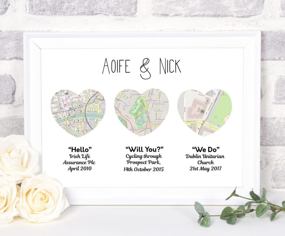 Wedding gift map heart world maps available 4 sizes available wedding gifts gumiabroncs Images